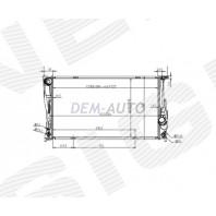 Радиатор охлаждения 1,6/1,8/2,0/2,8/3,5 AT