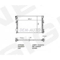 Радиатор охлаждения 1,6/1,8/1,9DT/2,0/2,0HDi/2,0TD/2,0JDT MT