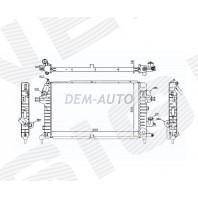 Радиатор охлаждения 1,3CDTi/1,7CDTi/1,9CDTi/2,0 MT