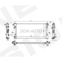 Радиатор охлаждения 2,2HDI/2,2JTD/2,3JTD/3,0HDI MT/AT