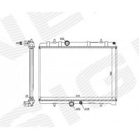 Радиатор охлаждения 2,0HDi MT/AT