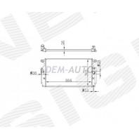 Радиатор охлаждения 1,6D4D/2,0D4D/2,2D4D MT/AT