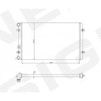 Радиатор охлаждения 1,4/1,6/1,8/1,9TDi/2,0 MT/AT