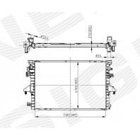 Радиатор охлаждения 2,0/2,0TDi MT/AT