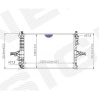 Радиатор охлаждения 2,0/2,3/2,4/2,4D/2,5/2,5TD/2,8/2,9/3,0 MT