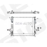 Радиатор охлаждения 2,5/3,2 MT/AT