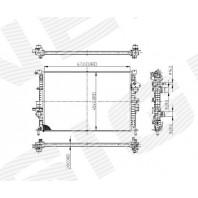 Радиатор охлаждения 1,6/2,0 MT/AT