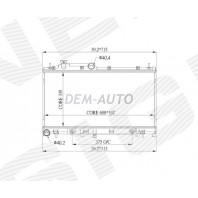 Радиатор охлаждения 2,0/2,5 MT/AT