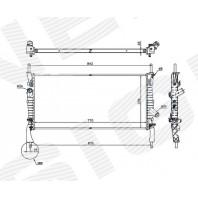 Радиатор охлаждения 2,2TDCI/2,3/2,4TDCI MT