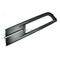Passat  Решетка бампера передняя левая черная с хромированным молдингом
