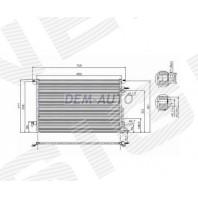 Радиатор кондиционера на Mitsubishi Space Gear / L400