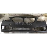 F10  Бампер передний с отверстием под омыватель фар , под датчики , грунтованный (СЕДАН)