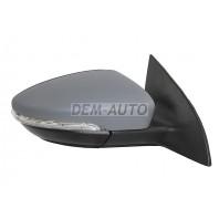 Passat  Зеркало правое электрическое с подогревом,указателем поворота,автоскладыванием подсветкой 9 контактов (Китай)