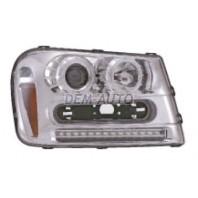 Trailblazer  Фара левая+правая (комплект) тюнинг линзованная со светящимся ободком диодная без корректора (EAGLE EYES) внутри хромированная