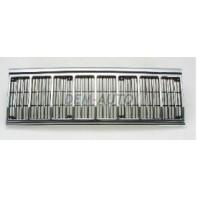 Решетка радиатора центральная хромированная-черная