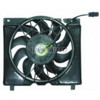 Мотор+вентилятор конденсатора кондиционера с корпусом 6 цилиндров