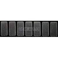 Накладка декоративная на решетку радиатора (комплект), нержавеющая сталь