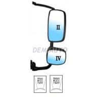 Зеркало правое в сборе с кронштейном,верхнее электрическое,нижнее механическое с подогревом (DEPO)