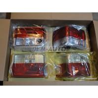 Audi 80 {+a80 92-94  Фонарь задний внешний+внутренний левый+правый (комплект) тюнинг прозрачный хрустальный красный-белый