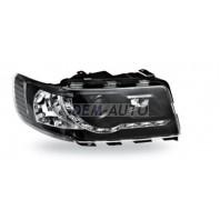 Audi 100  Фара левая+правая (комплект) тюнинг (DEVIL EYES) линзованная , литой указатель поворота (JUNYAN) внутри черная