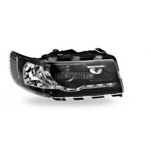 Audi 100 Фара левая+правая (комплект) тюнинг (DEVIL EYES) линзованная , литой указатель поворота (JUNYAN) внутри черная для Audi 100 - C4