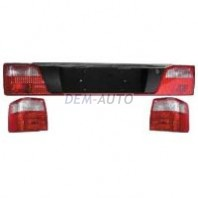 Audi 100 Фонарь задний внешний левый+правый (комплект) тюнинг прозрачный хрустальный красно-белый