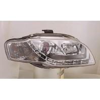 Audi a4  Фара левая+правая (комплект) тюнинг(DEVIL EYES)(SONAR)линзованная с регулировочным мотором внутри хромированная