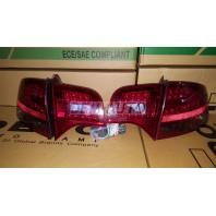 Audi a4 Фонарь задний внешний+внутренний левый+правый (комплект) (СЕДАН) тюнинг с диодами хрустальный красный тонированный