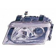Audi a4 {s4} Фара левая тюнинг линзованная прозрачная внутри хромированная