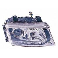 Audi a4 {s4} Фара правая тюнинг линзованная прозрачная внутри хромированная
