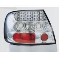 Audi a4 { Фонарь задний внешний левый+правый (комплект) тюнинг хрустальный с диодами (SONAR)внутри хром{с сопротивлением}