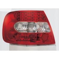 Audi a4 { Фонарь задний внешний левый+правый (комплект) тюнинг с диодами (SONAR)внутри красно-хромированный{с сопротивлением}