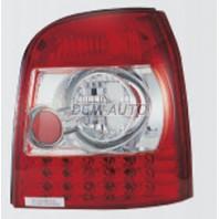 Audi a4 { Фонарь задний внешний левый+правый (комплект) (универсал) тюнинг с диодами (SONAR)внутри красно-хромированный{с сопротивлением}