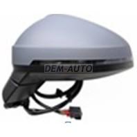 Audi a4  Зеркало левое электрическое, с подогревом, указатель поворота, автоскладывание, память, автозатемнение, 15 контактов (aspherical) (Тайвань)