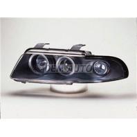 Audi a4 Фара левая+правая (КОМПЛЕКТ) тюнинг линзованная с 2 светящимися ободками (SONAR) внутри черная