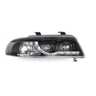 Audi a4 Фара левая+правая (КОМПЛЕКТ) тюнинг линзованная(DEVIL EYES) (JUNYAN) внутри черная