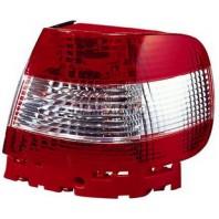 Audi a4 Фонарь задний внешний левый+правый(КОМПЛЕКТ)(СЕДАН)тюнинг прозрачный хрустальный красный-белый