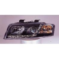 Audi a4  Фара левая+правая (КОМПЛЕКТ) тюнинг линзованная (DEVIL EYES) +/- под корректор(SONAR) внутри черная
