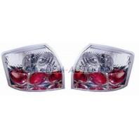 Audi a4  Фонарь задний внешний левый+правый(КОМПЛЕКТ) тюнинг прозрачный(LEXUS ТИП) внутри хромированный
