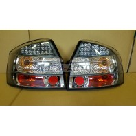 Audi a4  Фонарь задний внешний левый+правый(КОМПЛЕКТ)(СЕДАН)тюнинг хрустальный с диодами внутри хромированный-черный