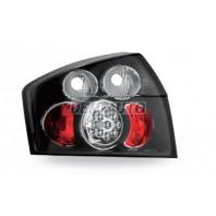 Audi a4  Фонарь задний внешний левый+правый(КОМПЛЕКТ)тюнинг с диодами (JUNYAN) внутри черная