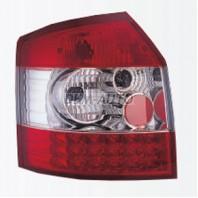 Audi a4  Фонарь задний внешний левый+правый (КОМПЛЕКТ) (УНИВЕРСАЛ)) тюнинг диодный (SONAR)внутри красно-хромированный