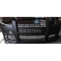 Audi a6  Бампер передний с отверстиями под омыватели фар (Китай)