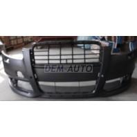 Audi a6  Бампер передний с отверстиями под омыватели фар, под датчики (Китай)