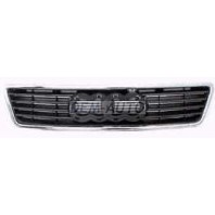 Audi a6  Решетка радиатора хромироанная -черная