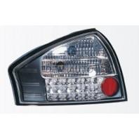 Audi a6 { Фонарь задний внешний левый +правый (КОМПЛЕКТ) тюнинг (СЕДАН) прозрачный с диодным стоп сигналом (SONAR) внутри черно-хромированный {с сопротивлением}