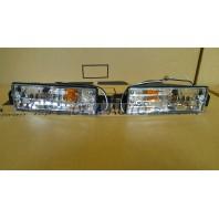 E30 Указатель поворота нижний левый+правый (КОМПЛЕКТ) в бампер тюнинг прозрачный хрустальный