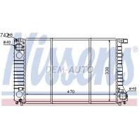 E32  Радиатор охлаждения (NISSENS) (см.каталог)