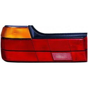 E32  Фонарь задний внешний левый тюнинг прозрачный с диодным габаритом , стоп сигналом хрустальный красно-тонированный для BMW - E32  7-series