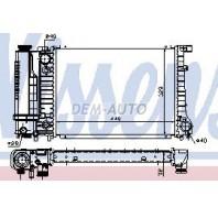E30 {e34 88-92} Радиатор охлаждения (NISSENS) (AVA) (см.каталог)